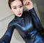 Womens-Vogue-Slim-Warm-PU-Leather-Tops-Casual-Turtleneck-Blouse-Plus-Shirt-New thumbnail 5