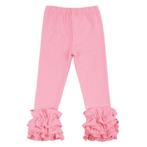 Baby Infant Girls Pants Toddler Kids Long Icing Ruffle Cotton Trousers Leggings