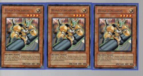 Silver Rare Playset 3x Road Synchron DP09-EN002 Yugioh Cards