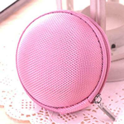 Mini Canvas Hard Round Case Storage Bag Box for Key Coin MP3 Earphone Cable Ring