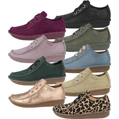 Clarks funny Dream zapatos señora zapato bajo cuero retro schnürschuhe Glick Pearl | eBay