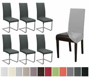 Beautex-Stuhlhusse-Jersey-6er-Set-elastische-Stretch-Husse-Baumwolle-Bi-Elastic
