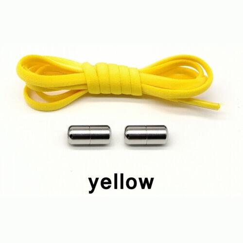 Kids Adult Sneakers Elastic Shoelaces Metal Capsule Button No Tie Lazy Lot
