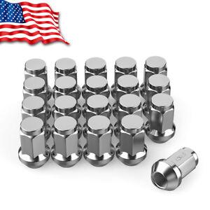 20 Chrome Bulge Acorn Lug Nuts M12x1 5 For Ford Fusion Escape