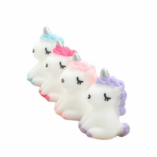 4pcs Resin Miniature Licorne Fairy Micro Bonsai Jardin Paysage Mini Figurine