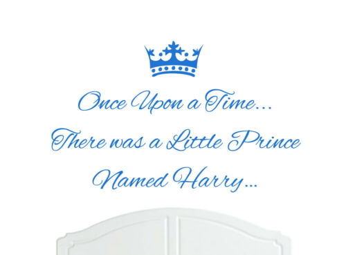 Once Upon a Time Prince Harry Wall Sticker Decal Bed Room Nursery Art Boy//Baby
