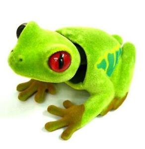 4-BOBBLE-swinging-HEAD-FROGS-bobbing-car-dash-heads-novelty-toy-MOVING-FAKE-FROG
