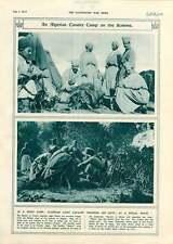 1917 Algerian Light Cavalry Troops Off-duty Ritual Feast Somme
