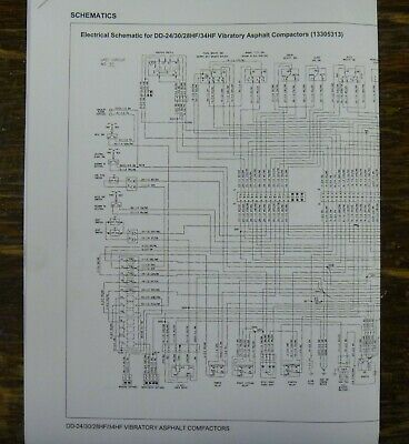 Ingersoll Rand DD24 DD30 Compactor Roller Electrical Wiring Diagrams Manual  | eBayeBay