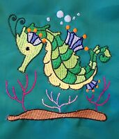Personalised Seahorse Swimming/School/PE/Gym/Drawstring Bag