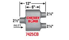 Pair 2 Cherry Bomb 7425cb Extreme Performance Race Muffler Cherrybomb New