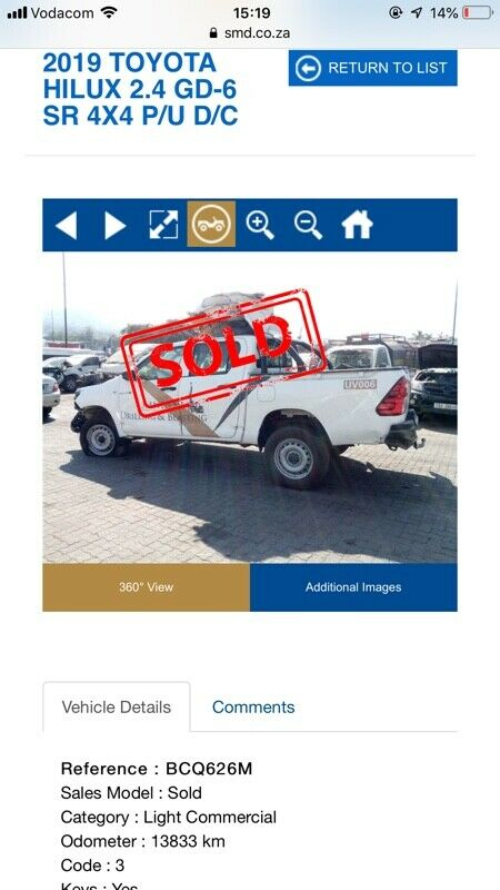 2019 Toyota Hilux gd6 4x4 d/c Strinping for spares   Sandton