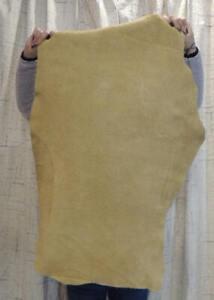6-8 oz. BRAINTAN MOOSE Leather Hide for Native SCA LARP Crafts Moccasins Bags