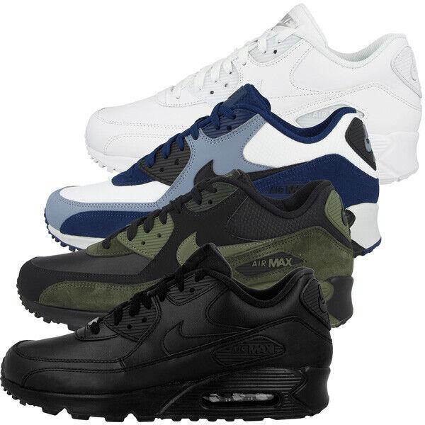Nike Air Max 90 Leather Schuhe Herren Sport Sneaker Turnschuhe Sneakers 302519