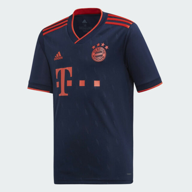 Boys Youth adidas Climalite FC Bayern MUNCHEN Jersey Medium M Navy ...