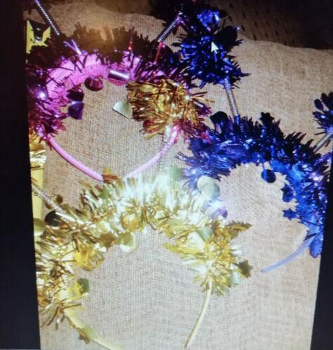 BLUE HEAD BOPPER TINSEL HEADBANDS FESTIVAL HEN NIGHT PARTY/'S UK SELLER £2.60