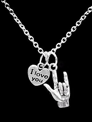 Sign Language Hand Symbol I Love You Heart Mothers Day Gift