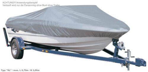 Persenning Bootsabdeckung Bootshaube Boot Schutz Plane Haube in grau Angelerboot