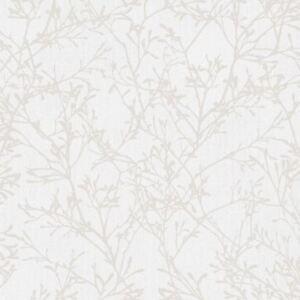 Tranquillite-Arbre-Papier-Peint-Rouleaux-Gris-Argent-fine-decor-FD41712-Neuf