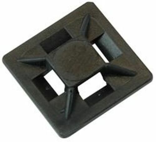20mm 25mm 30mm 40mm Autoadesivo Wire Cavo Cravatta Base Supporti Per Bastone Nero Bianco
