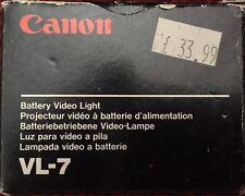 CANON AE1 SLR CAMERA VL-7 FLASH LIGHT BATTERY VIDEO LIGHT