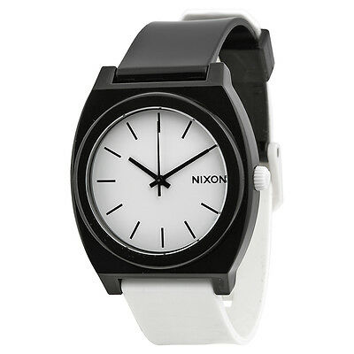 Nixon Time Teller White Dial Polyurethane Mens Watch A119005