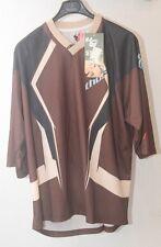 Original maillot motocross moto  THOR Static TAILLE L  marron chocolat  neuff
