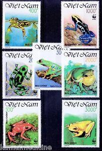 Vietnam-1991-MNH-7v-WWF-Frogs-Amphibians