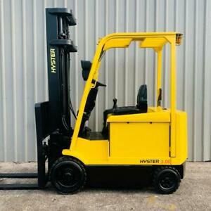 HYSTER E3.00XM USED 4 WHEEL ELECTRIC FORKLIFT (#3487)