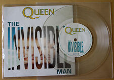 "EX/EX! QUEEN THE INVISIBLE MAN 7"" CLEAR VINYL DISC"