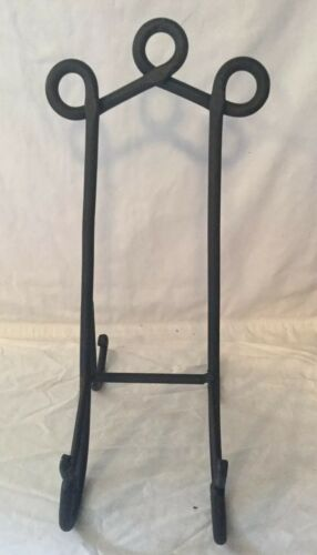 """15"""" Black Iron Display Easel Picture Plate Book Stand Holder"""