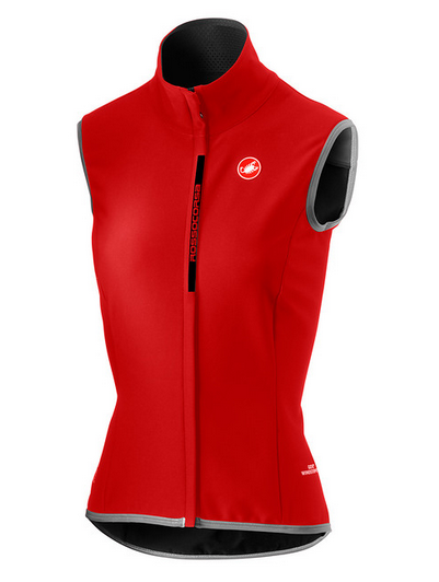 Castelli Radsport Damen Perfetto mit Weste Rot GRÖSSE S
