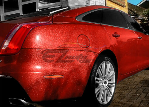"60/""x300/"" Premium High Gloss Glitter Red Sparkle Car Vinyl Wrap Sticker Decal"