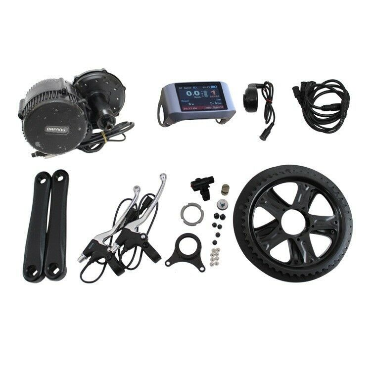 48V 350W Bicycle Motor Conversion Kit Mid-Drive W  Controller & 850C LCD Display