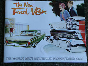 Details about 1960 FORD FAIRLANE BROCHURE ''RARE RHD AUSTRALIAN VERSION''  100% GUARANTEE