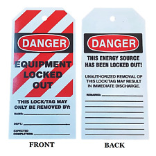 Danger Equipment Locked Out 6x3 Lockout Tag
