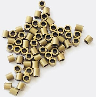 100 Count Antique Brass Seamless 2x2mm Crimp Tube Jewelry Supplies