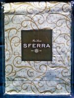 Four Sferra Placemats Frolic 1626 White Gold Silver Holiday Christmas Year