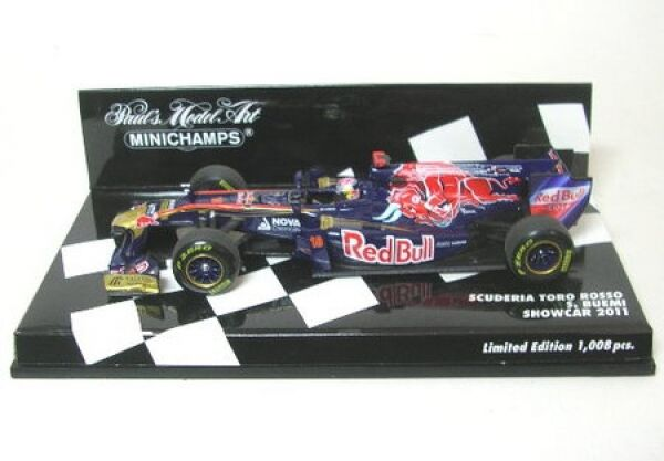 Tgold red No. 18 S. BUEMI Formula 1 Showcar 2011