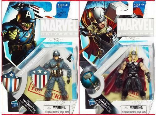 MARVEL Universe__CAPTAIN AMERICA & THOR figures_Comic Con 2010 Exclusive_New_MIP