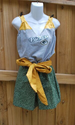 With Back Day Game Bay M Jumper Romper Sash Green Jumpsuit Packers Split ztCftwq