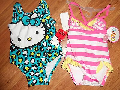 2 Swim Suit Bathing Suit ~ Girls 12 Months ~ Hello Kitty & Circo
