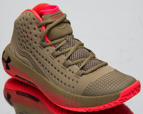 Under Armour HOVR Havoc 2 UA Men/'s Outpost Green Red Basketball Sneakers Shoes