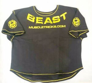 d5bed4b66 Muscle Gym Rag Top rag top Gym Wear Apparel Gasp Wow Black Yellow | eBay