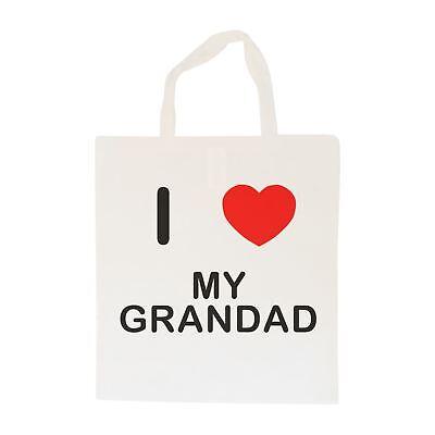 Amo Il Mio Nonno-borsa In Cotone | Taglia Scelta Tote Shopper, O Sling-