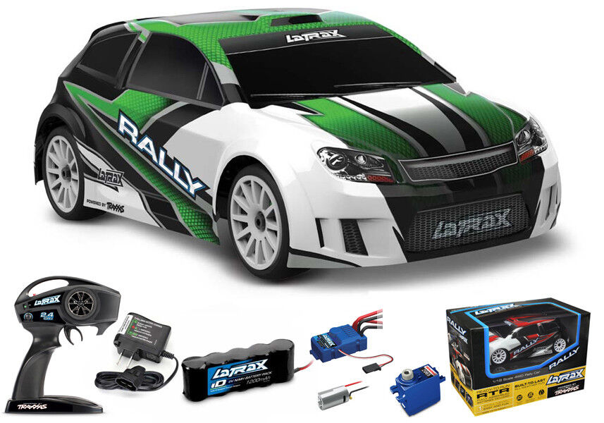 Traxxas LaTrax 4WD 1 18 Rally Car RTR Green w  AC Charger   NiMh Battery 75054-5