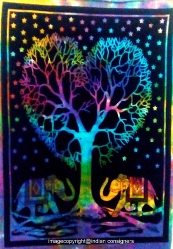 Good Looking Wall Art Multi Color Tree /&  Elehpant Desgin Small Tapestry Poster