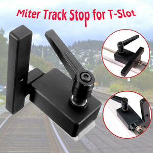 Miter Track Stop For T Slot T Tracks Manual Durable In Use Diy