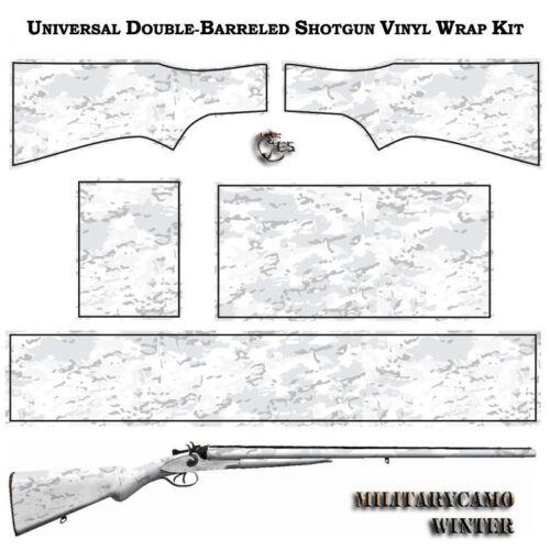 ES MILITARYCAMO Wrap Skin for Double Barrel Horizontal Shotgun.9 patterns