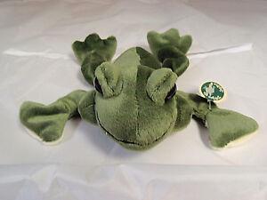Bearington frog 'Frank' beanbag 9 1/2 inches NWT free shipping